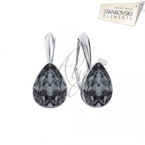 Cercei Fancy Pear Silver Night
