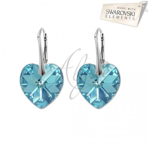 Cercei Heart Aquamarine