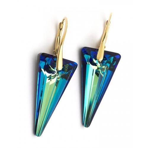 Cercei Bermuda Blue Spike - Gold