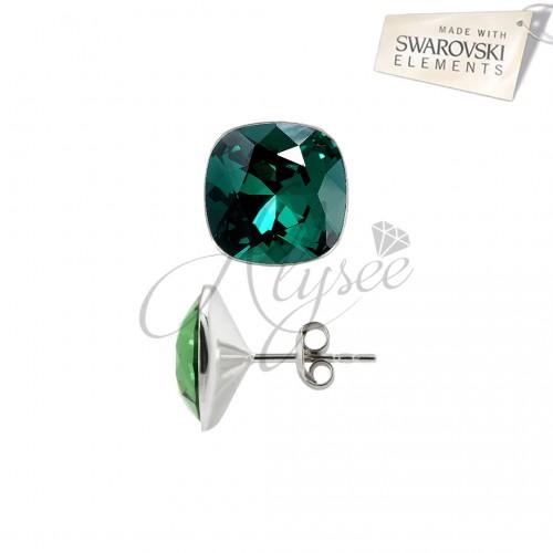 Cercei cu surub Square Emerald