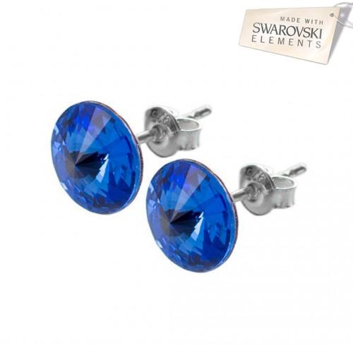 Cercei cu surub - Rivoli Majestic Blue