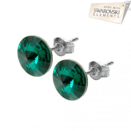 Cercei cu surub - Rivoli Emerald