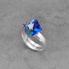 Inel Bermuda Blue Cube