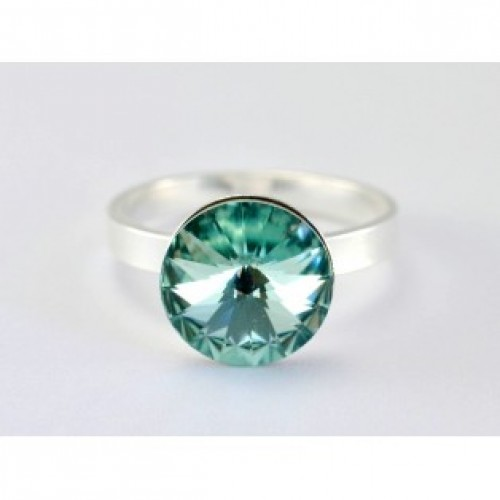 Inel din argint si cristal swarovski 2