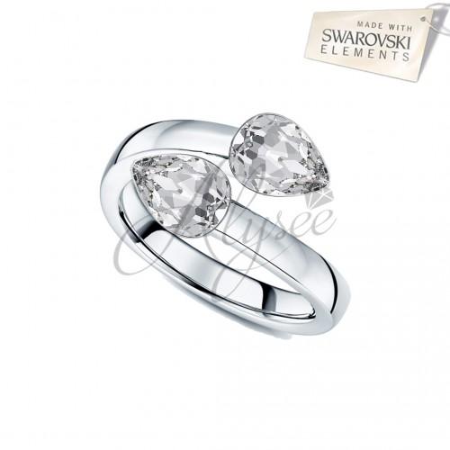 Inel 2 Fancy Pear Crystal
