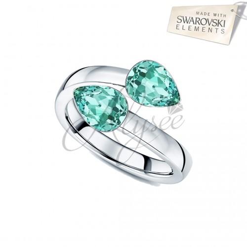 Inel 2 Fancy Pear Turquoise