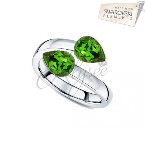 Inel 2 Fancy Pear Green