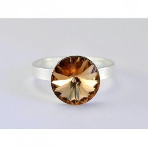 Inel din argint si cristal swarovski 5