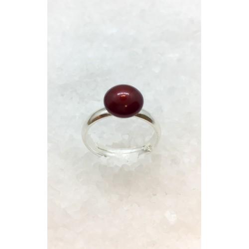 Inel Bordeaux Pearl
