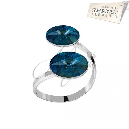 Inel Bermuda Blue - 2 Rivoli