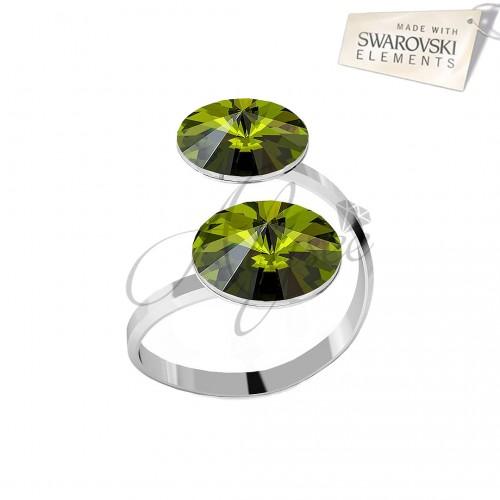 Inel Olivine - 2 Rivoli