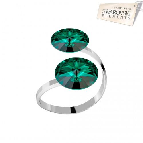 Inel Emerald - 2 Rivoli
