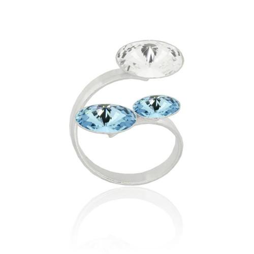 Inel 3 Rivoli Crystal Aqua