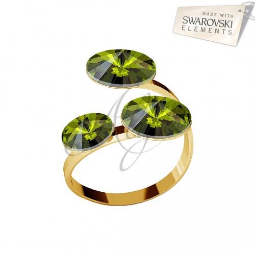 Inel 3 Rivoli Olivine Gold
