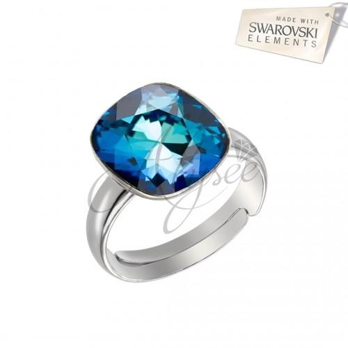 Inel Square Bermuda Blue
