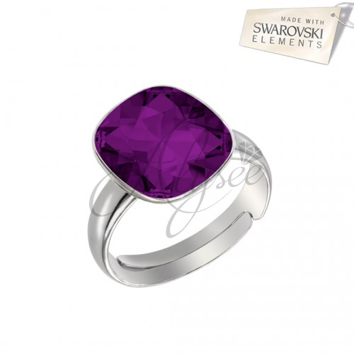 Inel Square Amethyst