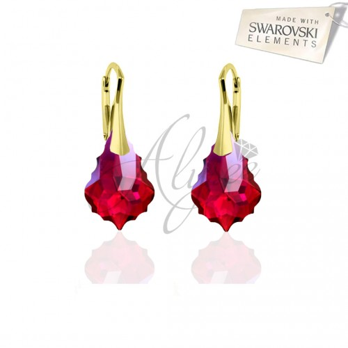 Cercei Baroque Ruby Gold