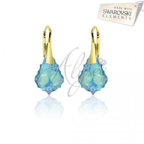 Cercei Baroque Aquamarine Gold