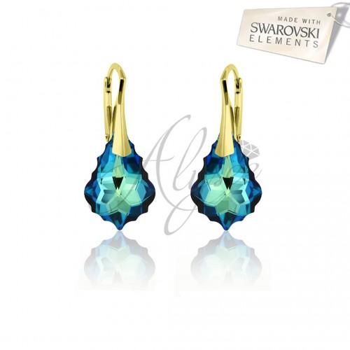 Cercei Baroque Bermuda Blue Gold