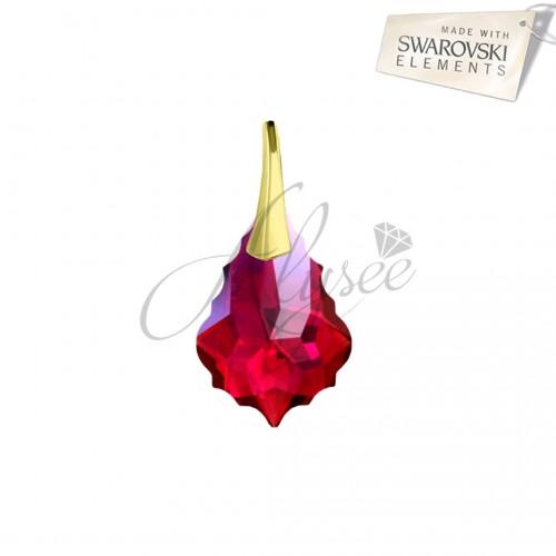 Pandantiv Baroque Ruby Gold