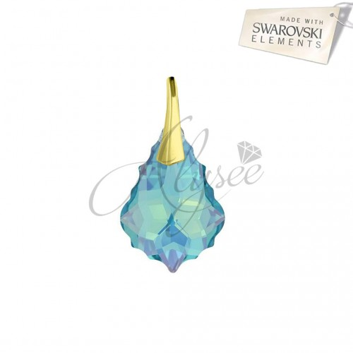 Pandantiv Baroque Aquamarine Gold