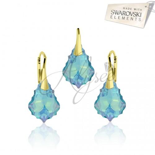 Set Baroque Aquamarine Gold