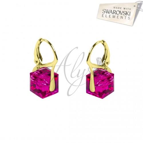 Cercei Cube Fuchsia Gold