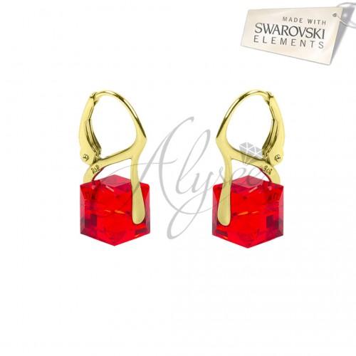 Cercei Cube Siam Gold