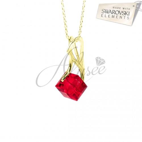 Pandantiv Cube Siam Gold