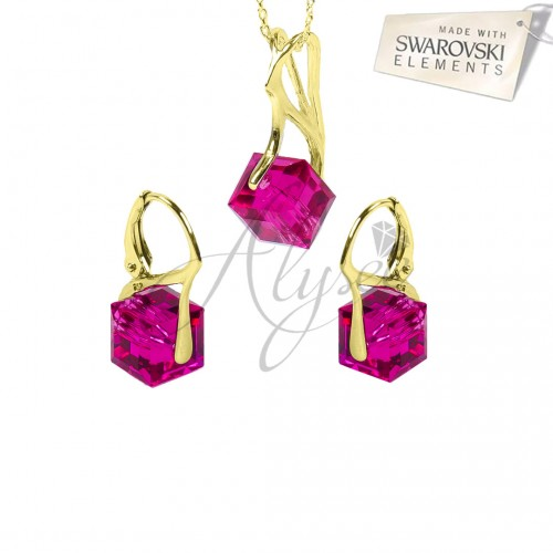 Set Cube Fuchsia Gold