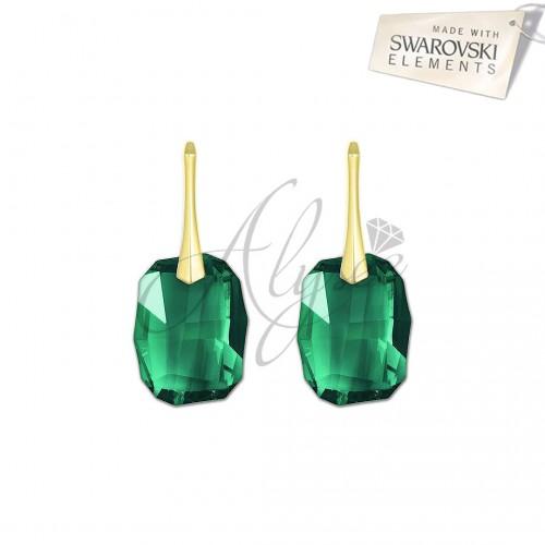 Cercei Graphic Emerald - Gold