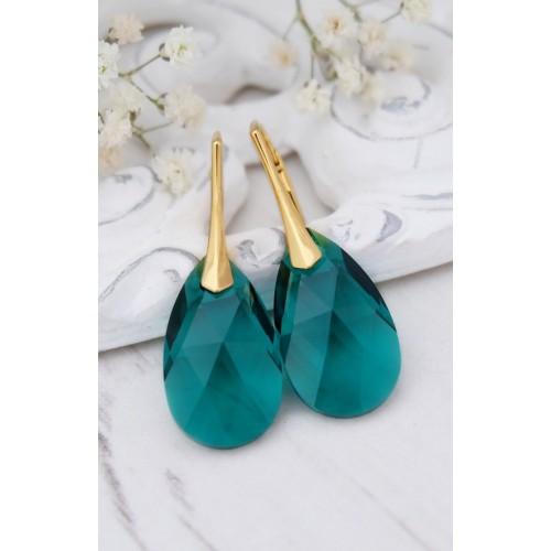 Cercei Emerald Pear - Gold