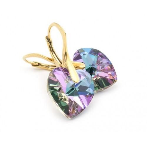 Cercei Vitrail Light Heart - Gold