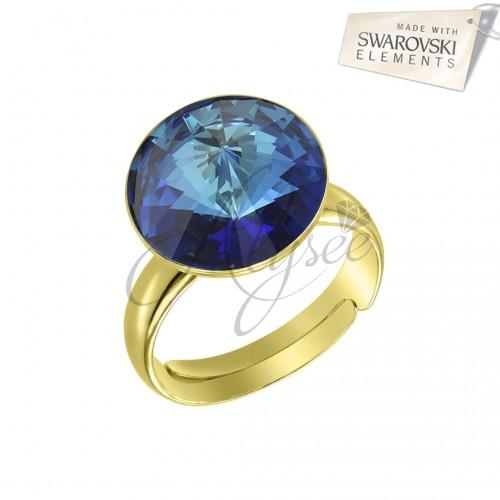 Inel Rivoli Bermuda Blue- Gold