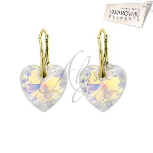 Cercei Heart Aurore Boreale Gold