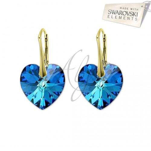Cercei Heart Bermuda Blue Gold