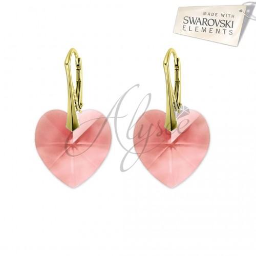Cercei Heart Blush Rose Gold