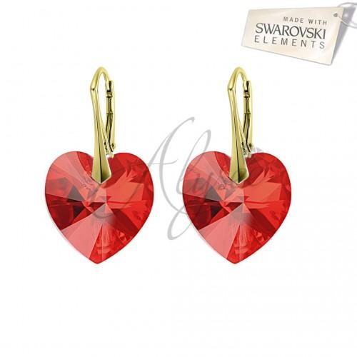 Cercei Heart Siam Gold
