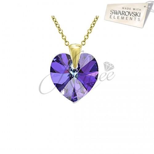 Pandantiv Heart Heliotrope Gold
