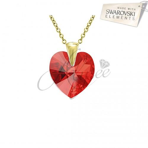 Pandantiv Heart Siam Gold