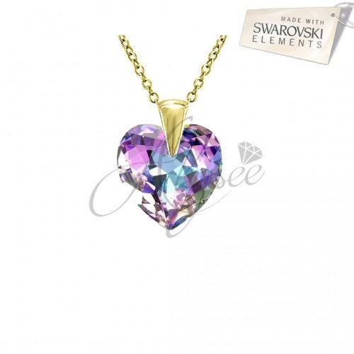 Pandantiv Heart Vitrail Light Gold