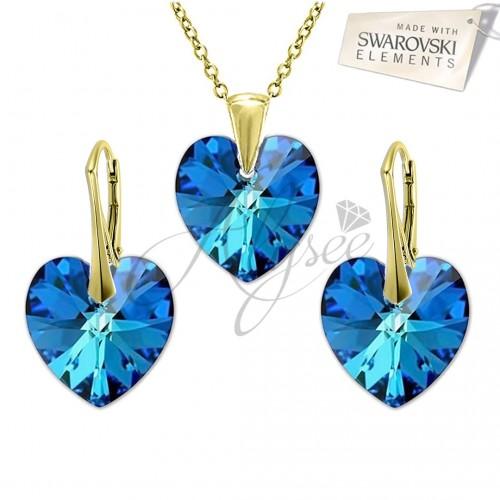 Set Heart Bermuda Blue Gold