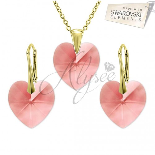 Set Heart Blush Rose Gold