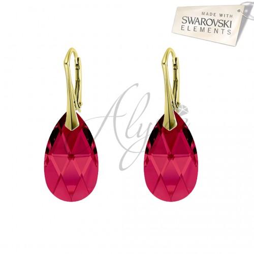 Cercei Pear Ruby Gold