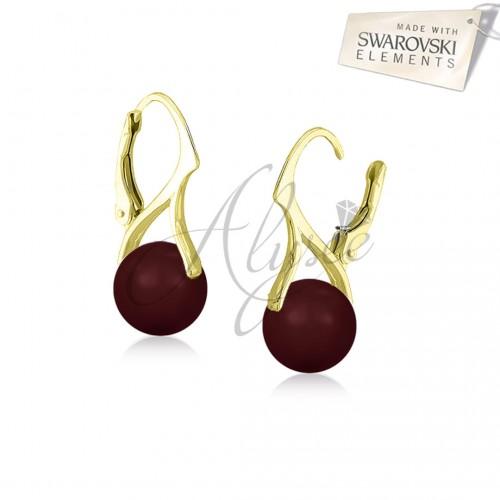 Cercei Pearl Bordeaux (Gold)