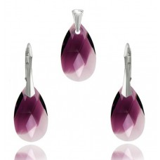 Set Amethyst Blend Pear 16mm