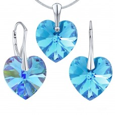 Set Aquamarine Heart