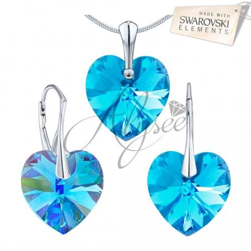 Set Aquamarine Heart