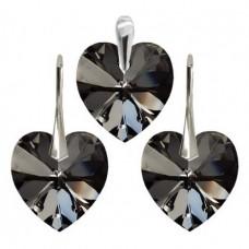 Set Silver Night Heart