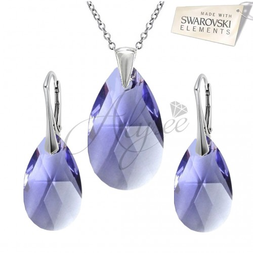 Set Pear Tanzanite
